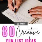 LIST IDEAS FOR FUN