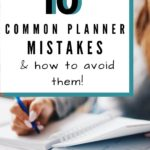 planner mistakes