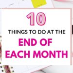 what to do at the end of the month
